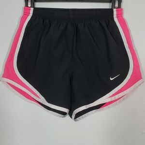 Nike Dry-Fit Black & Pink Athletic Shorts